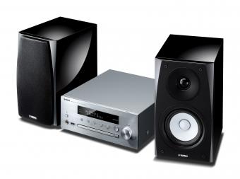 Yamaha MusicCast MCR-N570D Mini Hifi System Silber