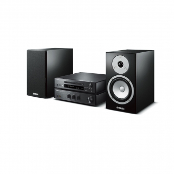 Yamaha MusicCast MCR-N670D Mini Hifi System Schwarz/Schwarz