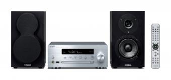 Yamaha MusicCast MCR-N470D Mini Hifi System Silber