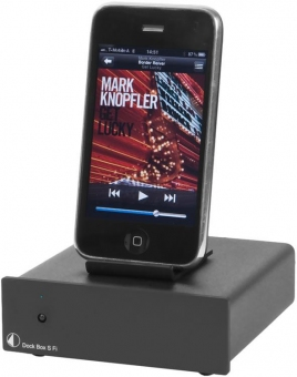 Pro-Ject Dock Box S Fi schwarz (Audiophile Dockingstation)