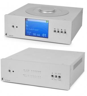 Pro Ject Hifi Sparpaket / Pro-Ject Superpack CD Box RS und Pro-Ject DAC Box RS silber inkl. Audioquest Forest Netzwerkkabel 0,75m und 82cm Pro-Ject BNC Kabel