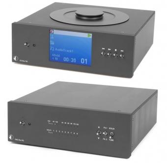Pro Ject Hifi Sparpaket / Pro-Ject Superpack CD Box RS und Pro-Ject DAC Box RS schwarz inkl. Audioquest Forest Netzwerkkabel 0,75m und 82cm Pro-Ject BNC Kabel