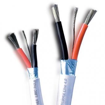 Supra Linc 2.5 abgeschirmtes Lautsprecherkabel verzinnt 2×2,5 mm² - METERWARE