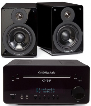 Cambridge Audio Hifi - Sparpaket Schwarz besteht aus Cambridge Audio One und 1 Paar Cambridge Minx XL