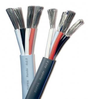 Supra Cables Rondo Lautsprecherkabel 4 x 2,5mm², -  Meterware Eis Blau