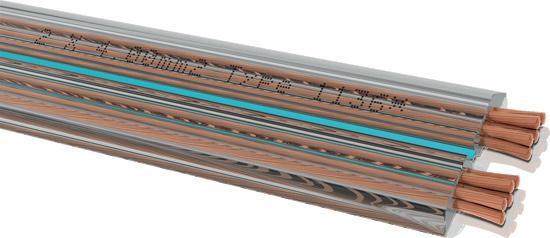 Oehlbach Streamline Lautsprecherkabel flach 2x4, 0   Meterware   +49 ...