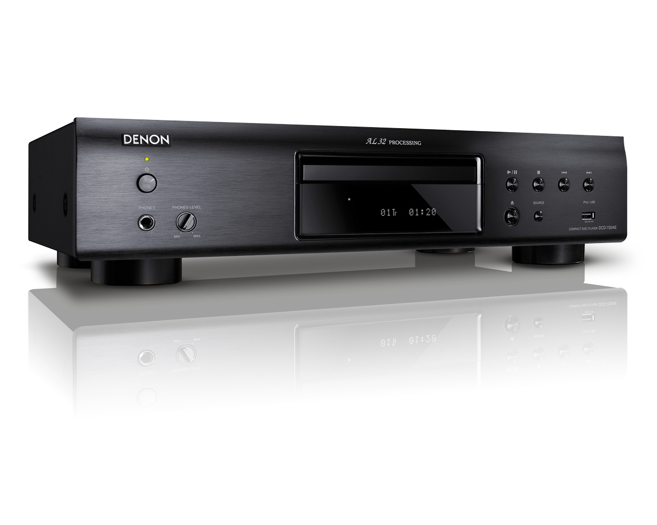 denon dcd 720ae schwarz cd player mit al32 processing und. Black Bedroom Furniture Sets. Home Design Ideas